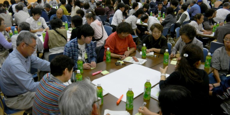 The community can play a key role in post-disaster recovery and reconstruction. Photo credit: Higashi Matsushima City.