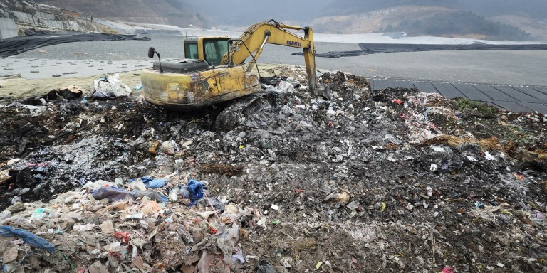 Many towns and cities in Asia use open dumps and only a small volume of solid waste ends up in properly engineered and managed landfill sites. Photo credit: ADB.