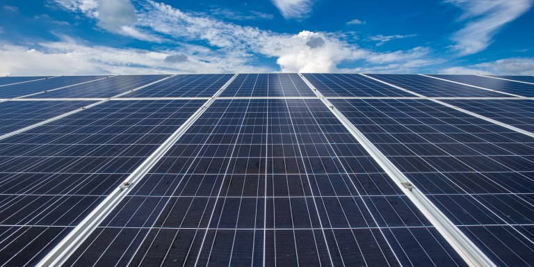 Increasingly, countries are finding solar power to be a sustainable source of energy. Photo credit: ADB.
