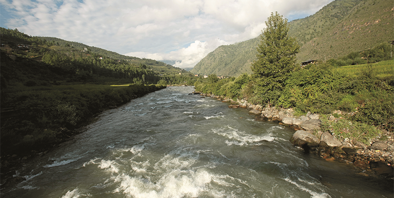This river runs through the capital city of Thimphu and forms the Wangchhu Basin. Photo credit: ADB.
