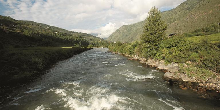 This river runs through the capital city of Thimphu and forms the Wangchhu Basin. Photo credit: ADB.