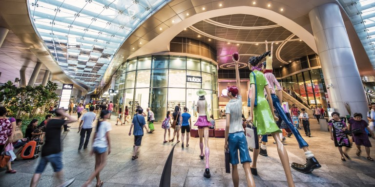 Commercial activity at Bedok Mall injected new life into the town center. Photo credit: CapitaLand.