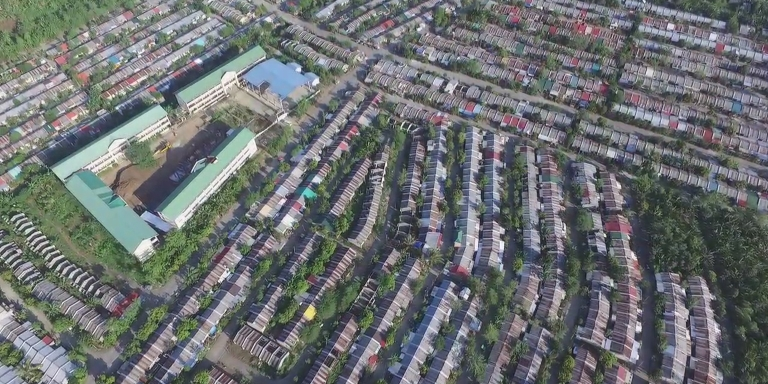 Aerial view of Southville 7. Photo credit: ABS-CBN Lingkod Kapamilya Foundation.