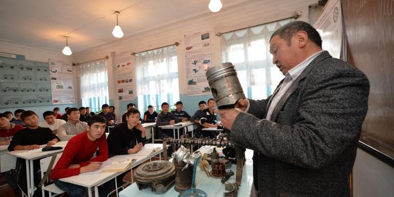 Students attending vocational schools in Karakol, Kyrgz Republic. Photo credit: ADB.
