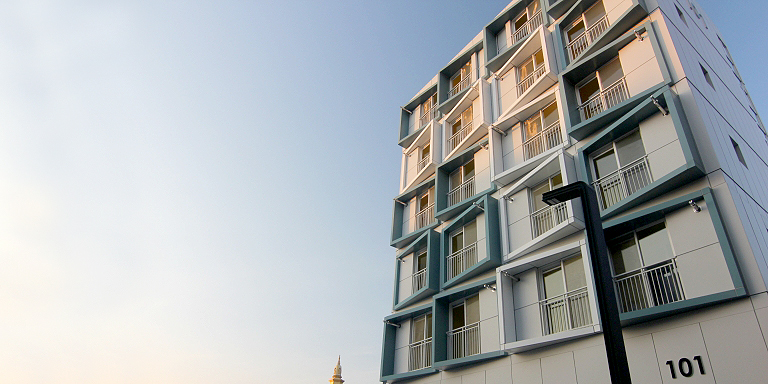 The Gayang Complex in Seoul was built using the modular construction system.  Photo credit: KICT.