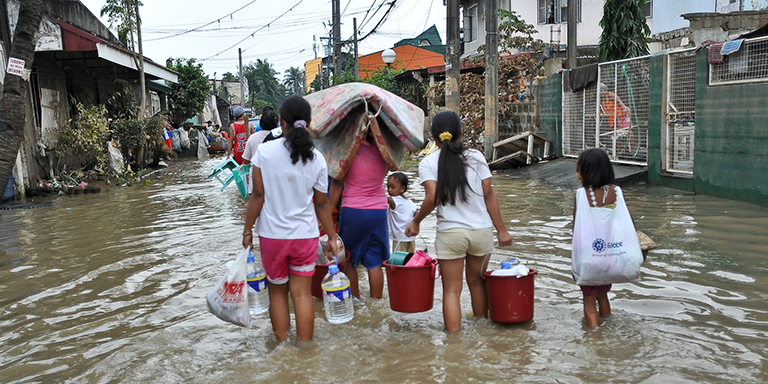 Estimated losses from extreme weather events, such as severe storms and flooding, run in the billions of dollars. Credit: ADB