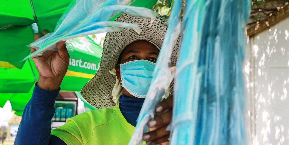 SMEs could help meet global demand for facial masks and other medical products by participating in cross-border production and supply chains. Photo credit: ADB.