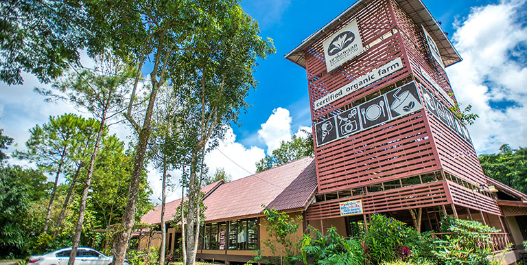 An environmentally sustainable farm resort in Thailand operates a store selling organically grown produce from its farm. Photo credit: ADB
