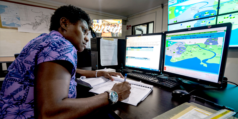 Water utilities can create a digital model of their water distribution network and install sensors to monitor their operation and collect real-time data. Photo credit: ADB.
