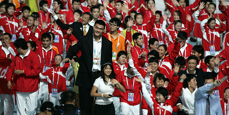 Retired basketball player Yao Ming supports a more inclusive world as a Special Olympics Global Ambassador and board member. Photo Credit: Special Olympics.