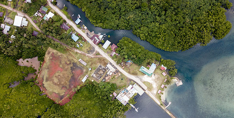 A dedicated platform for geospatial data and climate scenarios allows governments and project officers to view towns, cities, and potential infrastructure investments through a resilience lens. Photo credit: ADB.