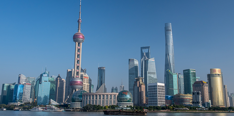 Skyscrapers dominate the skyline in Shanghai, a commercial and financial hub in the People's Republic of China. Photo: ADB.
