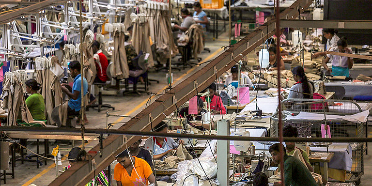 In Sri Lanka, women account for around 78% of the apparel industry workforce and perform routine work, such as sewing machine operation. Photo credit: ADB.