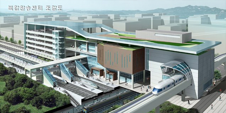 Seamless public transport requires convenient transfers among different transport modes. Illustration: The Korea Transport Institute.