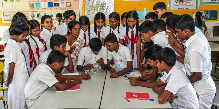 Improvements to Sri Lanka's education system are having far-reaching impacts on the country's economy. Photo credit: ADB.