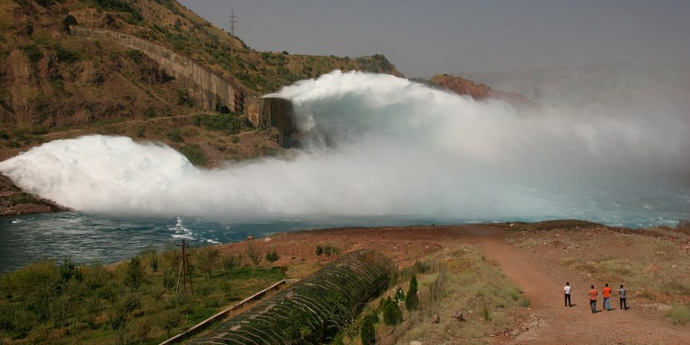 The Nurek hydropower plant is Tajikistan's main source of power, producing over 70% of the country's electricity. Photo credit: ADB.