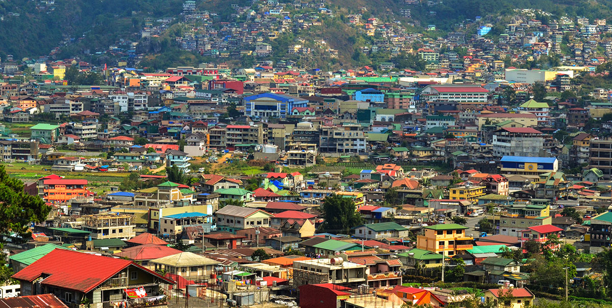 A machine-learning algorithm can be trained to detect specific features in satellite images, such as roofing material, in order to map the spatial distribution of poverty.  Photo credit: ADB.
