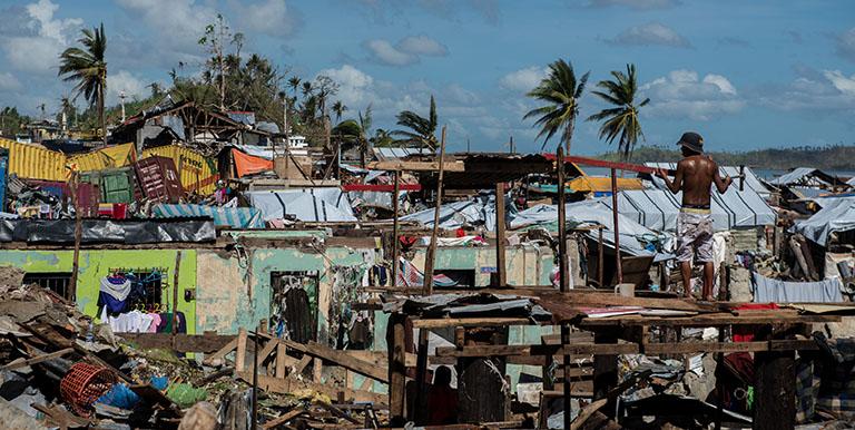 Typhoo Haiyan (Yolanda) in 2013 left billions of pesos worth of damage. Photo credit: ADB.