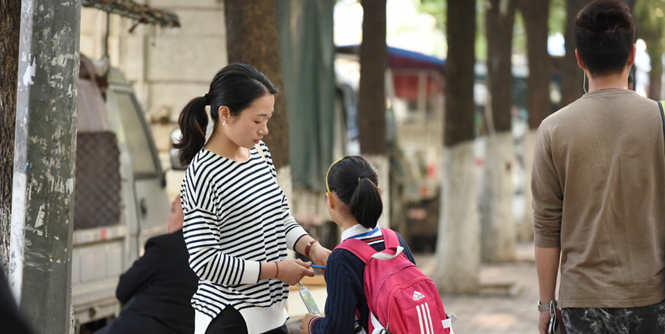 Women are more likely than men to take career breaks or work part-time to care for young children or elderly parents. Photo credit: ADB.