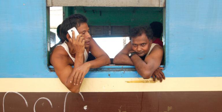 Smartphone data, like geolocation and data usage, can be used by financing companies to evaluate the risk level of an individual without a credit history. Photo credit: ADB.