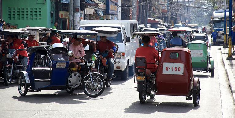 Tricycle drivers are self-employed workers belonging to the micro, small, and medium-sized enterprises sector. Photo credit: ADB.