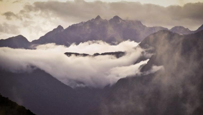 The high mountain peaks of the eastern Himalayas challenges even the most experienced pilots. Photo credit: ADB.