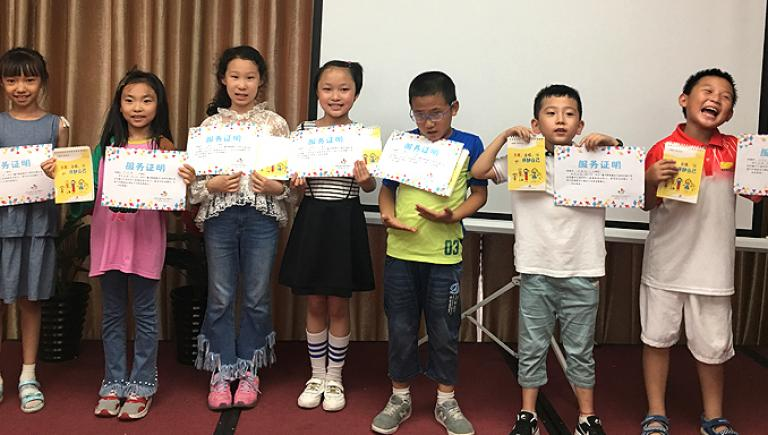 Child-centering road safety education in three primary schools in the People's Republic of China empowered girls and boys to drive their own learning. Photo credit: Shaanxi Gender Development Solution.