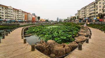 An ADB-funded project helped transformed the Jiashuyuan area into a place of interest. Photo credit: Jiaozhou Project Management Office.