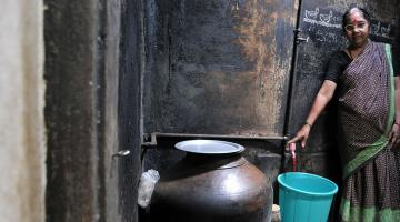 Access to water and latrines gives women privacy and safety. Photo credit: ADB.