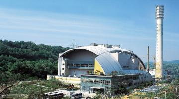 The facility is one of Seoul's four Resource Recovery Centers, where energy can be generated through waste incineration.  Photo credit: Seoul Urban Solutions Agency.