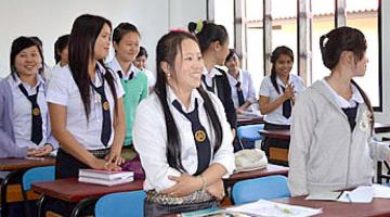 Scholarships for female students help them prepare for a career in the water and sanitation sector. Photo credit: Ministry of Public Works and Transport, Lao PDR.
