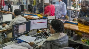 A cloud-based solution can help public agencies effectively respond to client demands even during peak periods. Photo credit: ADB.