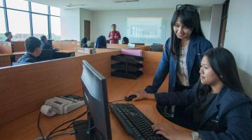 To address the issue of lack of awareness of cloud services, cloud technology should be presented early on in educational settings to promote familiarity and skills development. Photo credit: ADB.