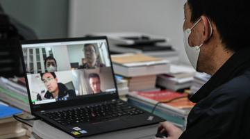 Web conferencing applications are very helpful not only in conducting client and stakeholder meetings but also in livestreaming on-site visits. Photo credit: ADB.