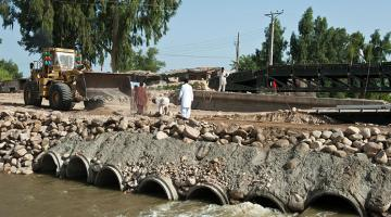 Contingency finance helps ensure that funds are available for immediate disaster response and recovery efforts, such as relief operations and emergency road repairs. Photo credit: ADB.