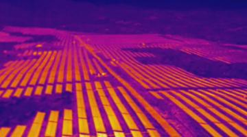 A drone equipped with Light Detection and Ranging (LIDAR) sensors and thermal cameras captured this image of a solar farm in the Philippines. Photo credit: Aero 360 International.