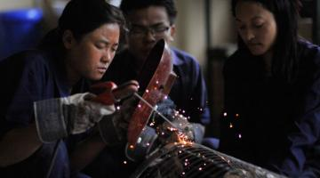 A study shows women who undertake vocational training are more likely to join the labor force. Photo credit: ADB.