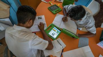 Poor students without access to a reliable internet service or device are more disadvantaged than before. Photo credit: ADB.