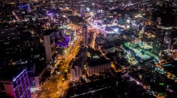 An overlooking view of the Ho Chi Minh City, Viet Nam at night. Photo credit: ADB.