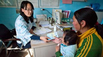 Out-of-pocket medical expenses in Mongolia include the cost of diagnostic services. Photo credit: ADB.