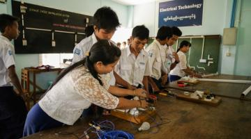 Weak learning pathways in Myanmar's education system impede student progress. Photo credit: Eric Sales/ADB.