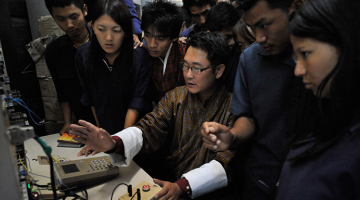 The Government of Bhutan has established training institutes across the country to offer poor but deserving students the chance to study vocational education for free. Photo Credit: ADB