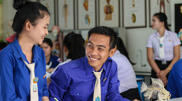 Biology students benefit from the higher education system in Lao People's Democratic Republic. Photo Credit: ADB