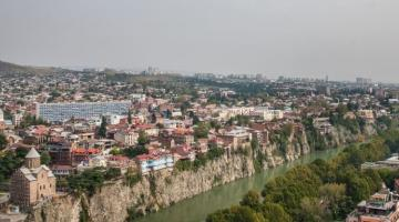 Tbilisi, the capital of Georgia. The country's vision is to leverage its strategic location and develop its capital city Tbilisi as a transport and logistics hub. Photo credit: Daro Sulakauri/ADB.