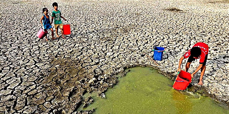 Water shortage brought by drought is one of the direct results of climate change. (Photo by: Arturo De Vera, Jr.)